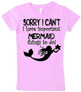 Micro Me Pink 'Mermaid Things To Do' Fitted Tee - Infant Toddler & Girls