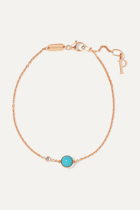 Piaget Possession 18-karat Rose Gold, Turquoise And Diamond Bracelet