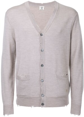 Kent & Curwen distressed V-neck cardigan