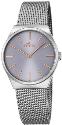Lotus Women's Quartz Watch with Grey Dial Analogue Display and Silver Stainless Steel Bracelet 18288/2