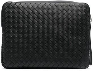 Bottega Veneta Intrecciato woven laptop bag