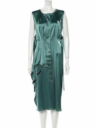 Sies Marjan Scoop Neck Midi Length Dress w/ Tags Green
