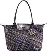 Longchamp Op Art Mixed-Print Shoulder Tote Bag