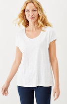 J. Jill Scoop-Neck Slub Tee