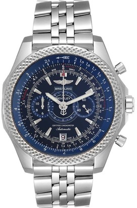 Breitling Blue Stainless Steel Bentley Supersports Limited Edition A26364 Men's Wristwatch 49 MM