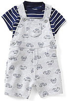 Little Me Baby Boys 3-12 Months Striped Tee & Car Printed Shortall