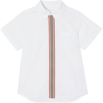 Burberry Boy's Silverton Icon Stripe Button-Down Shirt, Size 3-14