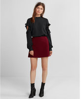 Express high waisted a-line mini skirt