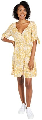 Rip Curl Golden Days Floral Dress (Yellow) Women's Clothing