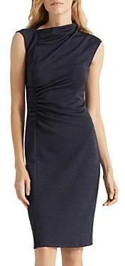 Halston Asymmetric Draped Dress