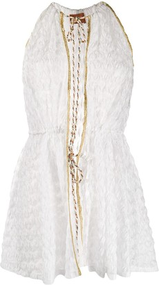 Missoni Mare tie fastened textured mini dress