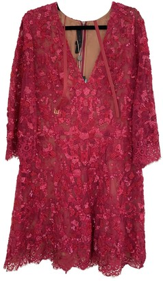 Elie Saab Pink Lace Dress for Women