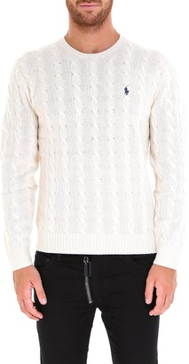 Polo Ralph Lauren Signature Logo Embroidered Cable Knit Jumper