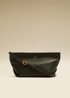 KHAITE The Adeline Crossbody Bag in Black Leather