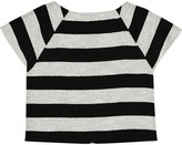 Alice + Olivia Cropped striped cotton-blend top