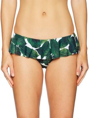 Milly Women's Banana Leaf Sirolo Ruffle Bikini Bottom