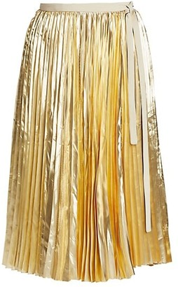 Proenza Schouler Pleated Metallic Skirt