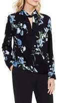 Vince Camuto Floral-print Wrap-front Blouse