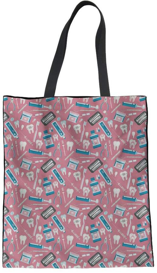 b808da95880e Coloranimal Pink Linen Tote Bag for Teenager Girls Handbag