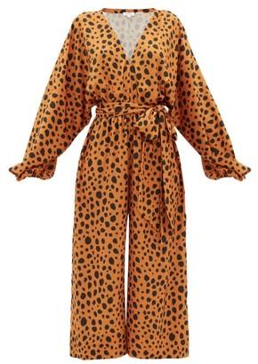 Rhode Resort Blake Leopard-print Satin Jumpsuit - Leopard