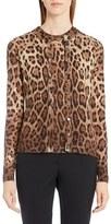 Dolce & Gabbana Women's Leopard Print Silk & Cashmere Cardigan
