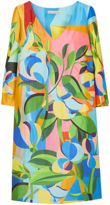 Mary Katrantzou Shea Printed Satin-faille Mini Dress