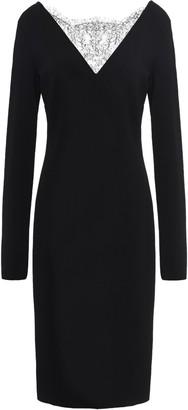Givenchy Chantilly Lace-paneled Stretch-knit Dress