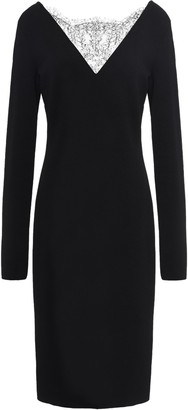 Givenchy Paneled Lace And Stretch-knit Dress