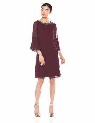SL Fashions Women's Chiffon Long Cocktail Dress