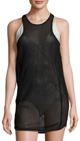 Mikoh Bahia Mesh Sporty Racerback Mini Dress