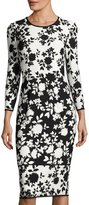 Maggy London Floral-Print Jersey Sheath Dress