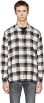 Saint Laurent White & Black Check Shirt