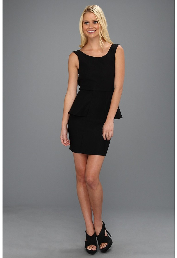 Type Z Eliza Peplum Dress (Black) - Apparel