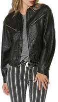 Paige Giana Leather Moto Jacket