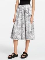 Calvin Klein Platinum Dot Floral Skirt