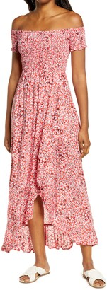 Tiare Hawaii Cheyenne Off the Shoulder Cover-Up Maxi Dress
