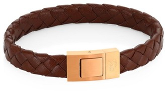 Saks Fifth Avenue COLLECTION Woven Leather Bracelet