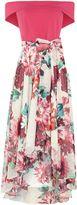 Eliza J Off the shoulder dipped hem floral dress