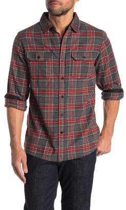 Burnside Woven Yarn Dye Plaid Print Classic Fit Flannel Shirt
