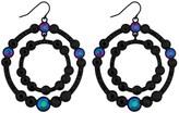 Lipsy Rainbow Crystal Double Circle Earring