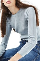 Topshop Women's Ribbed Crop Sweater