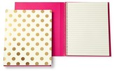 Kate Spade Large Spiral Notebook, Gold Dots