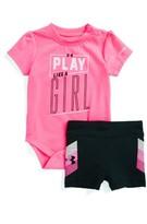 Under Armour Infant Girl's Play Like A Girl Bodysuit & Shorts Set