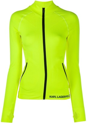 Karl Lagerfeld Paris Zip-Up Lightweight Performance Jacket
