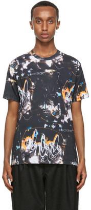 Comme des Garçons Shirt Black Futura Edition Print T-Shirt
