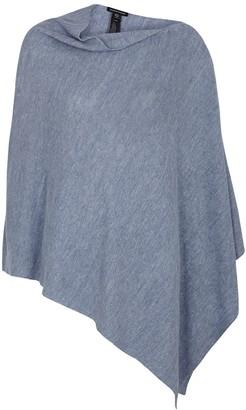 Eileen Fisher Blue Linen Poncho