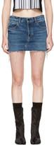 Alexander Wang Indigo Denim Cut-Off Miniskirt