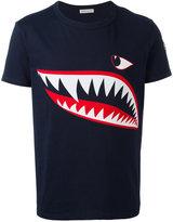 Moncler shark print T-shirt - men - Cotton - XXL