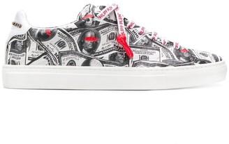 Philipp Plein Dollar bill low-top sneakers