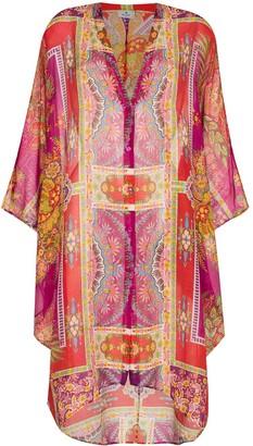 Etro Geometric Print Kaftan Dress